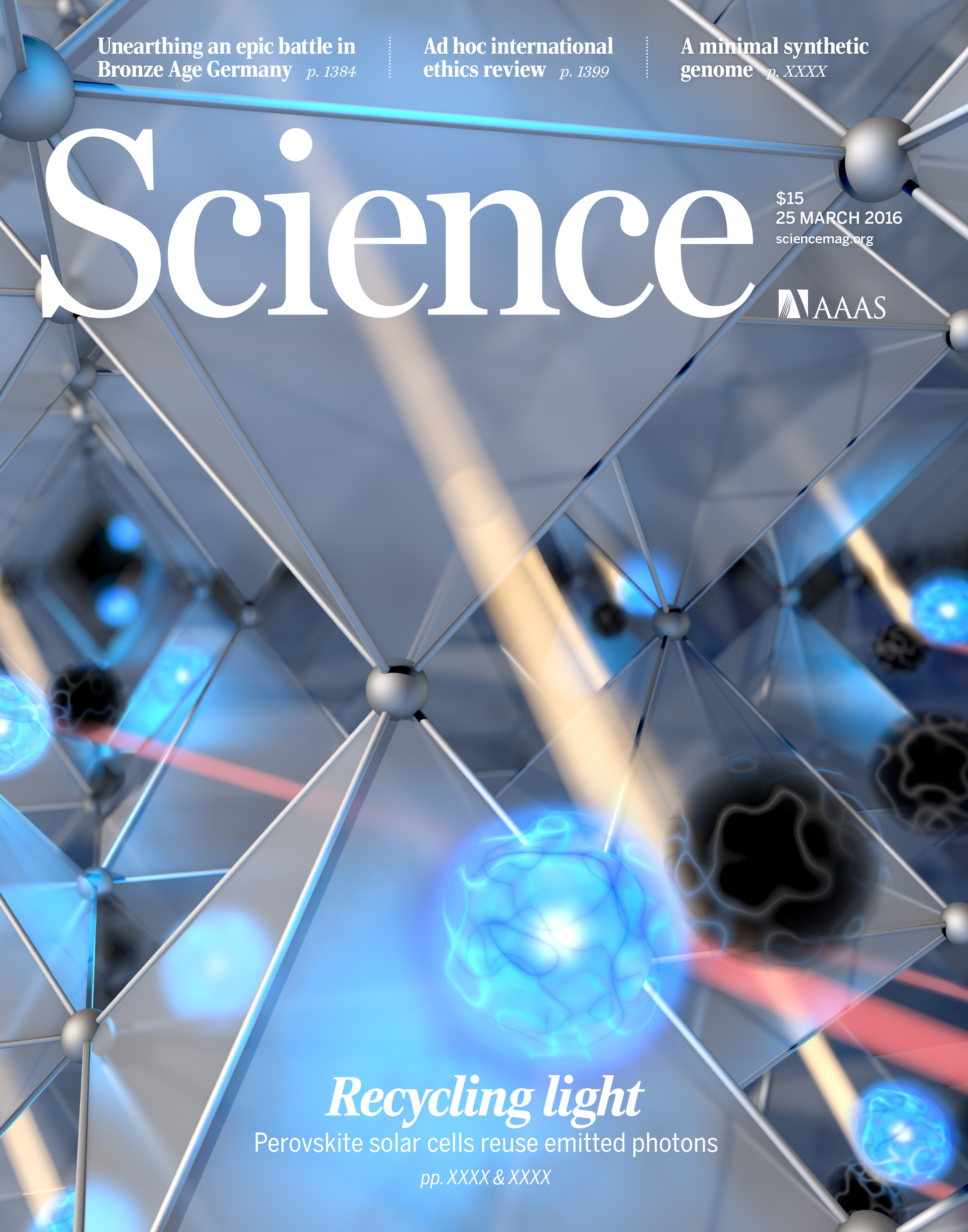 Science Cover Photon Recycling in Perovskites